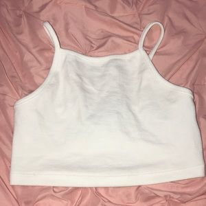 forever 21 cropped white tank